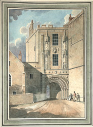 View of the gateway from the lower College Green, Bristol